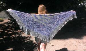 A shawl from the Ysolda Follow Your Arrow mystery KAL.