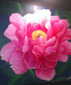 Painting of a peony - these flowers are so lush!