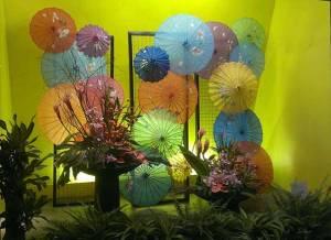 A beautiful display of umbrellas.