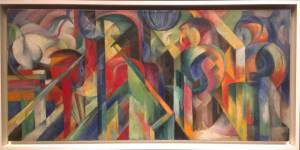 I was not familiar with Franz Marc before this exhibit, but this painting made me want to learn more! I absolutely LOVE this sort of abstraction - such brilliant juxtaposition of shape and color!