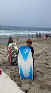 My kids are ready to hit the surf!