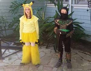 Picachu and Ninja warrior