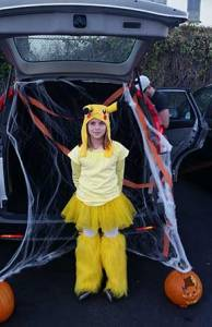 Pikachu getting ready to trunk or treat