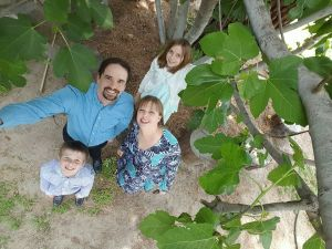 Taken in our backyard with a selfie stick on Easter. Selfie sticks come in handy. And I know you want to laugh, but take it from a non-gadgety sort of person, they are helpful! :)