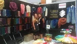 The Colinton Australia booth, with owner Brandyn and her daughter Maegan