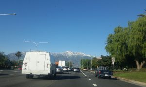 On our way to see Transyberian Orchestra - we only get to see snow-capped mountains when the snow comes to low enough elevations. But it never gets old.