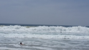 huge surf at Zuma beach