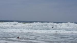 huge surf at Zuma beach