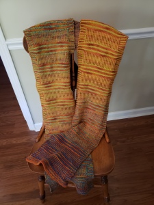 striped directions scarf