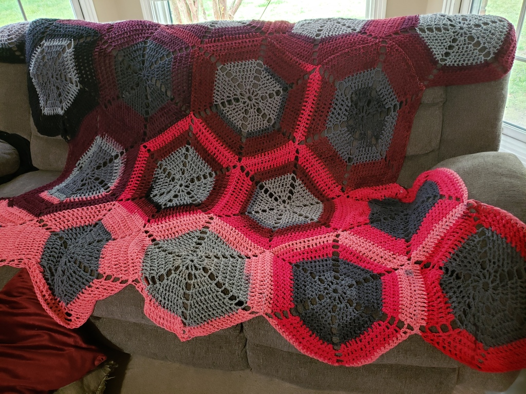 Hexagon Throw by Kristin Nicholas